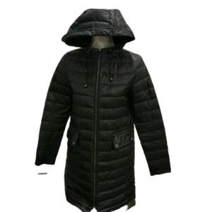 Zara black down and feather puffer jacket
